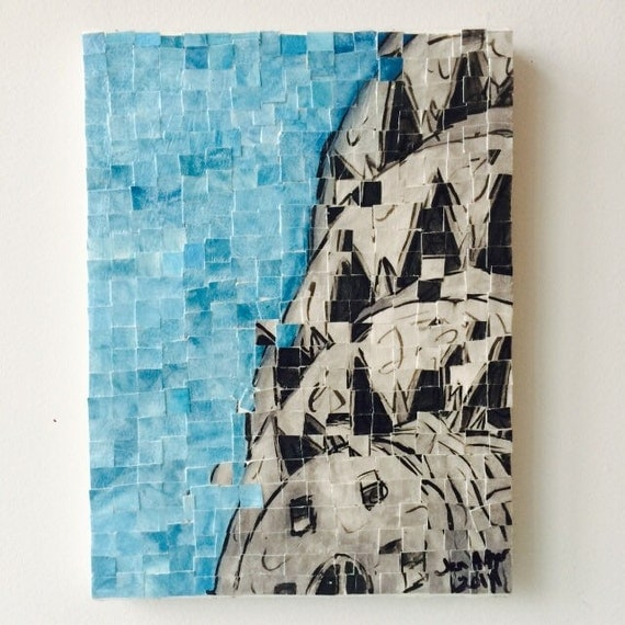 "New York City - Chrysler Building - Architectural Art: 9""12"" Original Painting"