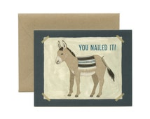 "Pin The Tail On The Donkey Congratulations Card - ""You Nailed It!"" - ID: CON016"