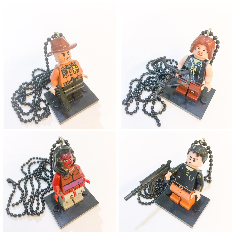 promo lego the walking dead set necklace by ticklesbytaylor. Black Bedroom Furniture Sets. Home Design Ideas