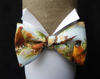 Partridge and Pheasant Pre Tied Bow Tie