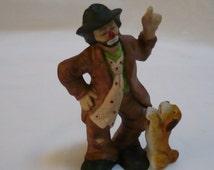 Emmett Kelly Jr  figurine by Flambro  1990s