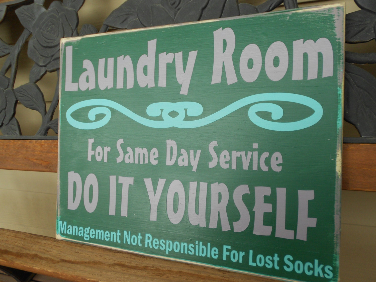 Custom Wood Sign Home Decor Laundry Room Sign Sign By ArtsyWood