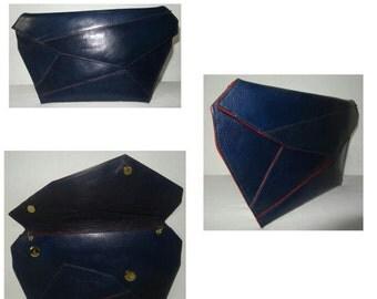 Shea Blue Asymmetrical Clutch