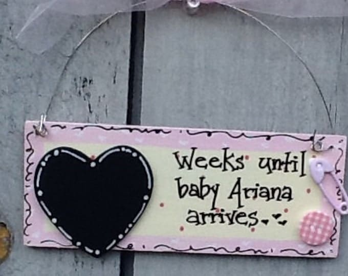 Baby countdown sign, pregnancy sign, pregnancy countdown sign, baby girl sign, baby boy sign, newborn sign, newborn countdown sign