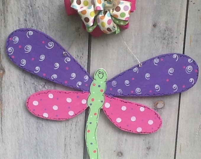 Dragonfly door hanger, dragonfly door sign, summer door sign, summer door hanger, butterfly door sign, butterfly door hanger, insect sign