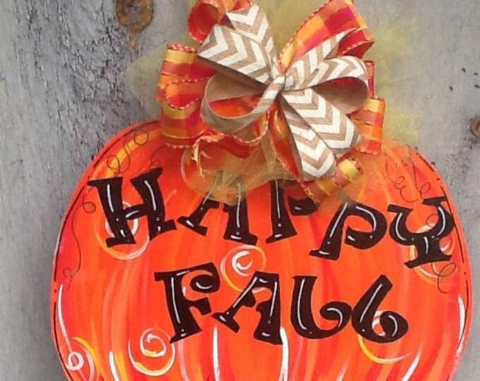 Happy fall sign, fall door sign, fall sign, fall door hanger, happy fall y'all sign,  happy fall y'all, welcome fall, pumpkin door hanger