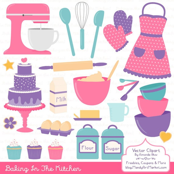 Kitchen Window Clip Art: Professional Baking Clipart & Vectors In Crayon Box Kitchen