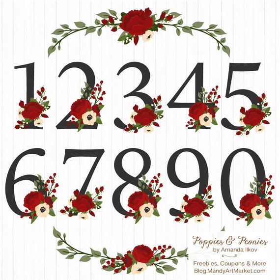 christmas numbers clipart free - photo #23