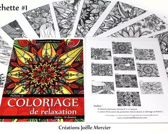 Bag #1-10 designs - relaxation coloring