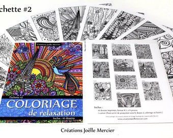 Bag #2-10 designs - relaxation coloring