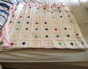 Granny Square Bed Blanket