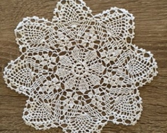 """5.5""""-6"""" Inch Round Cotton Crochet Lace Doily Handmade White Doilies Set of 12 FREE SHIPPING"""