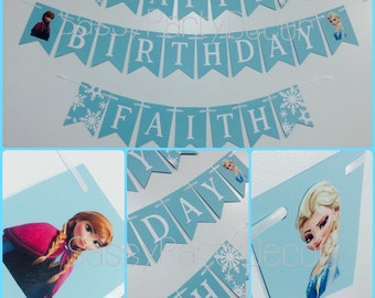 Frozen birthday banner, frozen banner, frozen birthday, frozen party decor, frozen decor