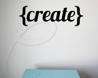 Wall Decal- {Create} Vinyl Wall Decal-Style 02