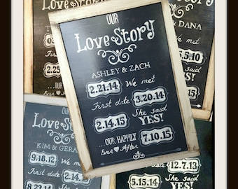 Our Love Story sign! Great for a wedding gift or anniversary gift!