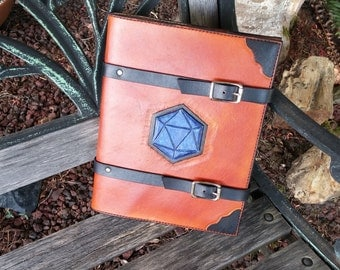 Leather Cover with D&D Player Handbook, Handcrafted