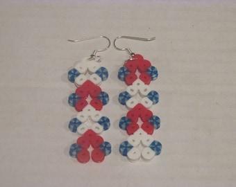 Fourth of July Dangle Earrings