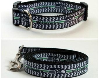 Seattle Seahawks Dog Collar and leash set