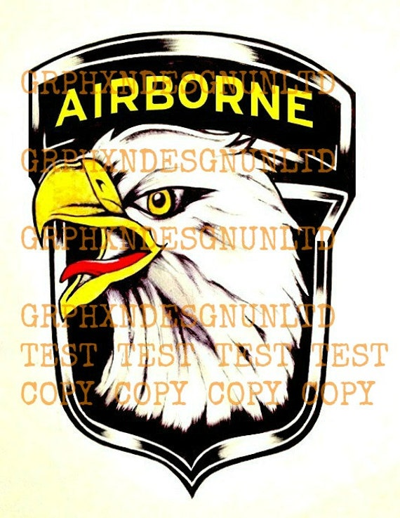12 5 x 3 101st airborne temporary tattoos for 101st airborne tattoos