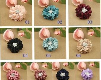 Folded Flower, Fabric Flower, Headband Flower, Wholesale