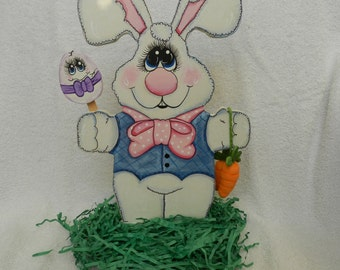 Easter Bunny with Egg and Carrots