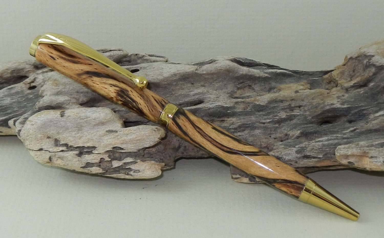 Spalted Beech Wood ~ Beech wood spalted twist pen