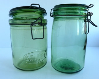 french vintage solidex canning jars, preserving jars