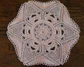 HANDMADE Crocheted Doily. Centerpiece. Lace. Vintage Inspired. Coral Doily. Fancy Doily. Wedding Centerpiece.