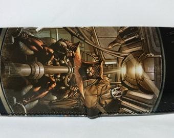 rorschach nite owl  - recycled comic book wallet - slim wallet - hanmade wallet - card holder - thin wallet - vinyl wallet - men's wallet