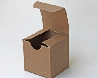 50 3x3x3 box, set of 50, kraft gift box, 3x3x3 favor box, natural kraft box, wedding favor box, bridal/wedding shower box, packaging supples
