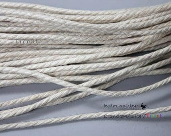 5 Yards 2.5mm Milk White Hemp Cords, Hemp Cotton Rope HM17