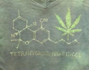 Tetrahydrocannabinol Custom Batik Tshirt