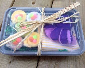 Baby Sushi Gift Set- Baby Shower gift- Baby Girl