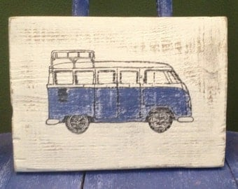 Vintage Blue VW Bus