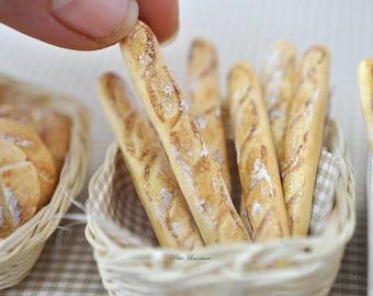 Miniature-Baguette French Bread-Paris 1PCS Scale 1: 12-Store Bakery Dollhouse-Bread