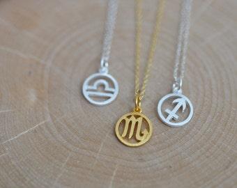 Zodiac Necklace in Sterling Silver 925, Zodiac Symbols Necklace, Personalized Zodiac Signs, Personalized Jewelry, Jamberjewels