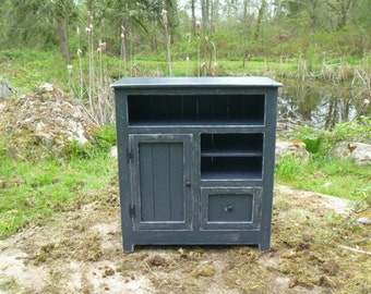 black painted distressed rustic pallet cabinet jelly cabinet reclaimed wood shabby chic