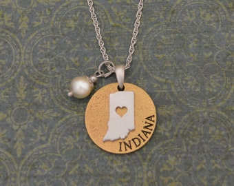 Indiana Love Necklace with Pearl Accent - 22455