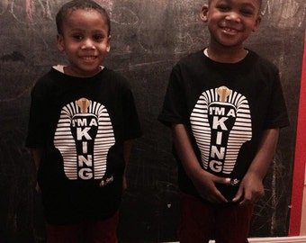 I'm a King T-Shirt  ~ Gifts for Black Boys ~ Gifts for Black Pride ~ African Clothing