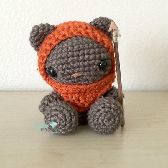 Crochet Ewok teddy bear in Amigurumi style with