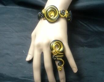 Wire Wrapped Bracelet, Bangle Bracelet, Wire Bangle, Wire Jewelry, Wire Bracelet, Jewelry, Bangle