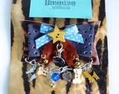 Junk Brooch - CUSTOM LISTING - Dogs and Bones - Reserved for Anne