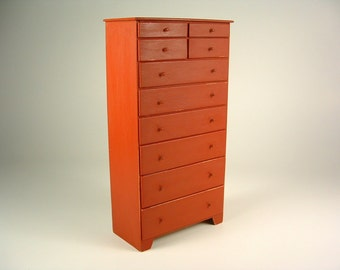 Shaker 10 drawer chest