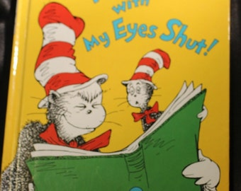Vintage Dr. Seuss I Can Read with My Eyes Shut Beginner Book 1978