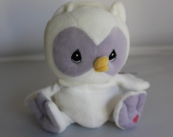 Precious Moments White Owl Tender Tails Plush Limited Edition Numbered 504394