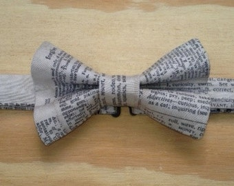 Newsprint bowtie