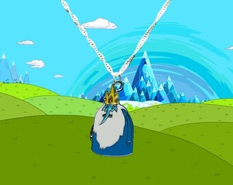 Adventure Time silver necklace with Ice King charm  Free UK Postage!