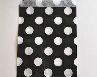 Black Polka Dot Favor Bags