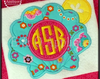 Fish appliqué design fish and coral applique and filled