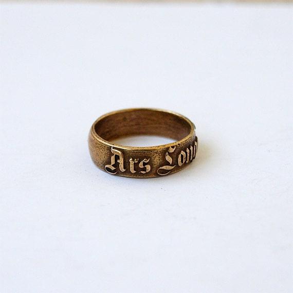 ars longa vita brevis latin ring rings latin words band